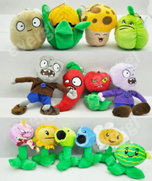 zombie vs plants soft toys Promotion Nouveau 14pcs Plants Vs Zombies Peluche Douce Peluche Jouet Poupée