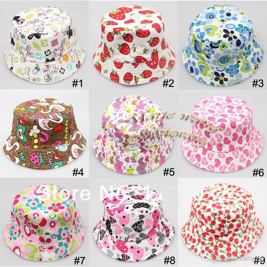 6ff30fb7cab 2019 2015 Easter Bonnet Baby Girl Bucket Hat Summer Cotton Hat Baby Sun Hat  Little Boys Girls Bucket Hat From Callying