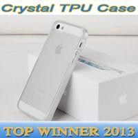 Wholesale S4 Back Crystal - 100pcs DHL Free Transparent Crystal Soft TPU Gel Skin Cases Back Cover Case for iPhone 4 4S 5 5s 5C Samsung S5 I9600 S4 I9500 N9000 TPU Case