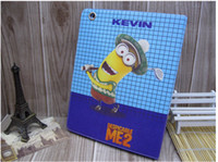 Wholesale Despicable Ipad - Despicable Me Me2 Cartoon Leather fold Stand Cover Case Skin for iPad 2 3 4 5 air ipad Mini Mini 2 9.7 7.9 inch tablet PC
