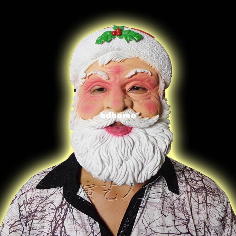 máscara libre de Papá envío de Santa máscara de látex masculino máscara del partido de danza estrella