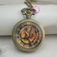 Wholesale Low Price Good Quality Watches - new fashion low price good quality woman lady girl gift antique bronze hunger games bird 3 pocket watch necklace hour Long