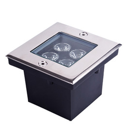 4PCS 85-265V AC 4W LED Outdoor Garden Underground Square Buried Light Flood Lamp Waterproof Free Shipping by Fedex