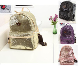 Wholesale Girls Bling Bags - 2013 J.estina Stylish Women bling bling Sequin Paillette backpack ladies girl school travel shoulder bag mochila bolsas bolsos