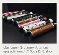 Wholesale Variable Voltage Sets - New Max vapor Greenery Vstar set Vstar-S VARIABLE VOLTAGE the same as Joye eVic kit joyetech starter upgrade vamo v5 luminous 5pcs DHL