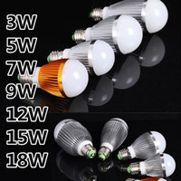Wholesale E27 18w Globe - New Model LED Bulbs Globe Bulb Light E27 E14 B22 LED Light 3W 5W 9W 12W 15W 18W Led Light Bulb 9W Globe Bulb Warm Cold White Led Lights Bulb