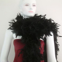 Wholesale Turkey Feather Boa Scarf - Chicken Feather Boa Strip Wedding Marabou Boa Scarf Turkey Feather Boa Feather Boas Child's Princess Dress Up White Many Color