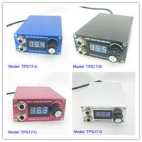 Wholesale Mini Lcd Power Supply - Digital Mini LCD Display Tattoo Power Supply For Machine Kit Set Supply TPS17# Series