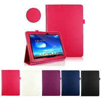 Wholesale Smart Pad Tablet Pc - S5Q Folio Premium Leather Stand Case Cover For Asus MeMo Pad 10 ME102A Tablet PC AAADDX