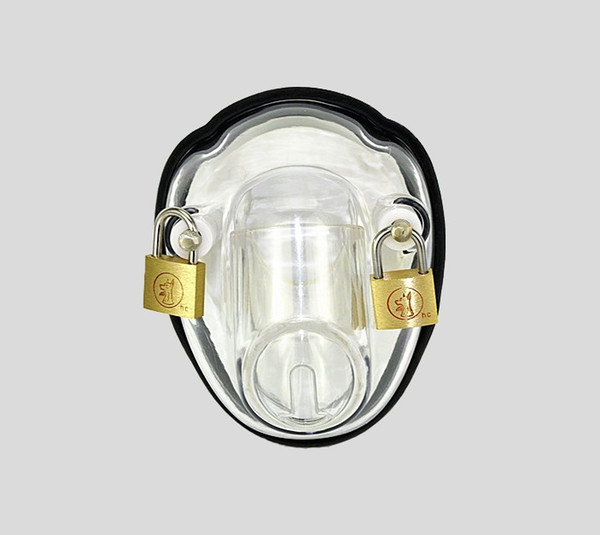 BONDAGE CLEAR MALE POLYCARBONATE BOWL CHASTITY DEVICE NEW ARRIVAL FETISH SEX TOY A139
