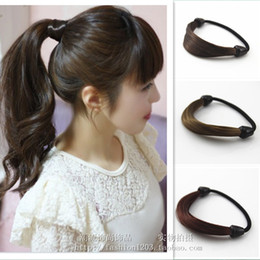 $enCountryForm.capitalKeyWord Canada - Free shipping-10PCS elastic hair ring hair accessories synthetic Ponytail Hold erheadwear black light brown dark brown