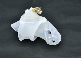Wholesale Dick Ring Cage - Latest Design Clear Silicone spikes Bondage Male Chastity Dick Cage Fixed Ring New Gay Fetish A140-1
