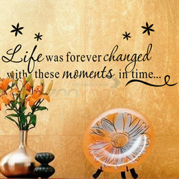 Wholesale Country Decorative - life was forever changed with these moments in time decal ZY8175 decorative wall decor removable vinyl wall sticker