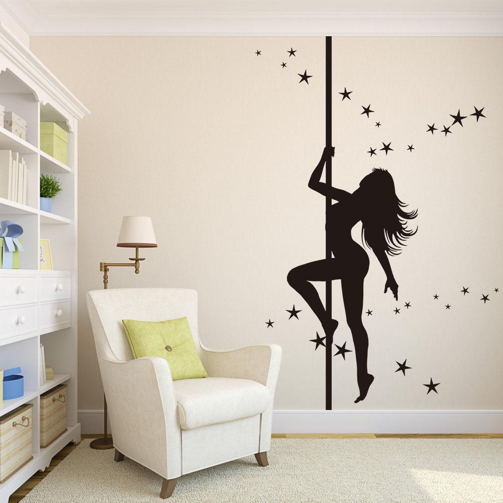 pole dancing girl wall sticker black dancing girls wall paper  - pole dancing girl wall sticker black dancing girls wall paper large sizeliving room wall decal cm big stickers for walls big wall decals from