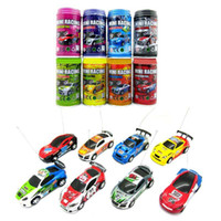 Wholesale Electric Toy Racing Cars - 1pc Lot Multicolor Coke Can Mini Speed RC Radio Remote Control Micro Racing Car Toy Gift FZ1890 Free Shipping