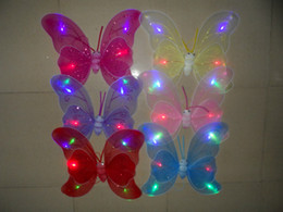 $enCountryForm.capitalKeyWord Canada - Children Performances Accessories Flash Butterfly Wings Party Christmas Decoration Fairy Wings +Magic Wand +Head Hoop(Set of 3 Pieces)
