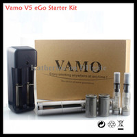 Wholesale Ego Battery Lcd Kit - Vamo V5 eGo Starter Kit LCD Display Variable Voltage Battery CE4 Atomizer Clearomizer for Electronic Cigarette E Cigarette Cig Kits Vamo Mod
