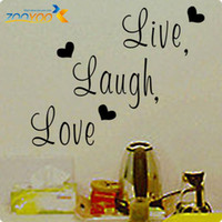 "Wholesale Live Laugh Love Wall Art - ZY8176 Quotes ""Live Laugh Love "" heart Vinyl Wall Decals Live Laugh Love wall 46*37 wall stickers home decor home decoration for kids rooms"