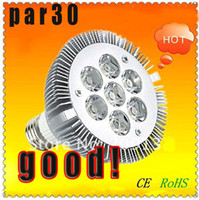 Wholesale E27 7x3w - Super value sale E27 PAR30 par38 7led 7 *3 w 21W dimmable LED Spotlight Light Bulb Lamp AC 85-265V 7X3W warm white cool white Free shipping
