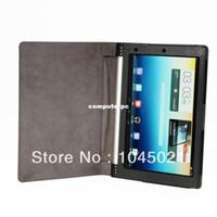 pouces étui pour tablette couverture de la peau achat en gros de-En gros! Pliant Étui En Cuir Tablet Cover Peau Pour 10 Pouce Lenovo Yoga B8000 10