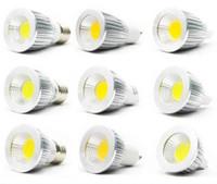 Wholesale Dimmable E14 Warm White 5w - Super bright COB Led 5W 7W 9W bulbs light dimmable GU10 E27 E26 E14 MR16 led spotlights warm pure cool white