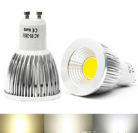 Wholesale Mr16 Cob Pure - COB Led 5W 7W 9W bulbs light Dimmable GU10 E27 E26 E14 MR16 led spotlights warm pure cool white 85-265V 12V