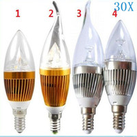 Wholesale Bright Candles - 9W E12 E27 E14 Silver Golden Led Candle Bulbs Lights Dimmable Warm Cool White High Bright Led Spot Lights 85-265V