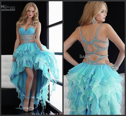 Wholesale Sexy Jasz Dresses - sexy glittering Jasz High Low Ball Gown Evening dress Prom wedding Dresses with Cut Out Sides