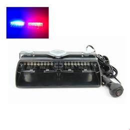 Wholesale Viper Led Lights - s2 viper 16pcs high power led car strobe light auto warn light police light red blue amber