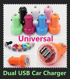 Renkli Çift USB 2 port Araç Şarj 2.1A Oto Güç Adaptörü evrensel iphone Samsung için ipad için 100 ADET nereden