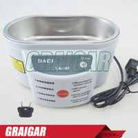 Wholesale Stainless Steel Ultrasonic Jewelry Cleaner - DADI DA-963 220V or 110V Stainless Steel Dual 30W Ultrasonic Cleaner