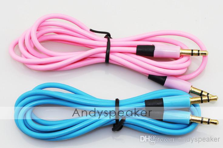 Câble auxiliaire AUX Câble d'auditoire de 3,5 mm à câble audio audio mâle 1.2M Câble de rallonge de voiture stéréo pour appareil numérique / up