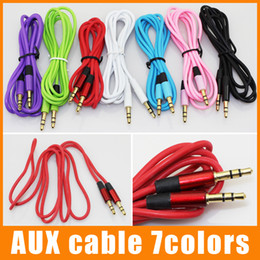 Cable Aux Cable Auxiliar 3.5mm Cable de Audio Masculino a Masculino 1.2M Cable de Alarma Estéreo para Dispositivo Digital 100pcs / up