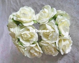 4cm box Promo Codes - 3-4CM DIY craft artificial mulberry paper flower small rose bouquet for scrapbooking&candy box decoration wedding accessories!