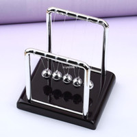 Wholesale 10x Newton Cradle Steel Balance Ball Physic School Educational Supplies teaching Science Desk toys