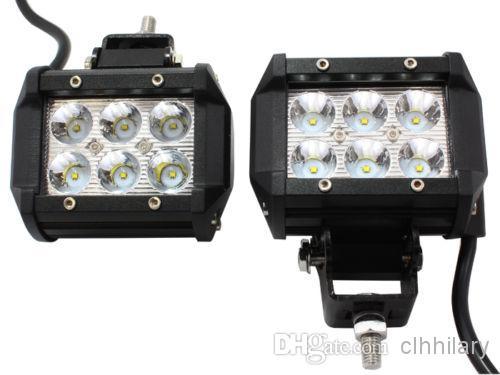 4 pouces LED Bar 18W CREE LED Barre de lumière de travail antibrouillard LED Barre de lumière hors route 4x4 ATV camion SUV conduite phare Spot d'inondation