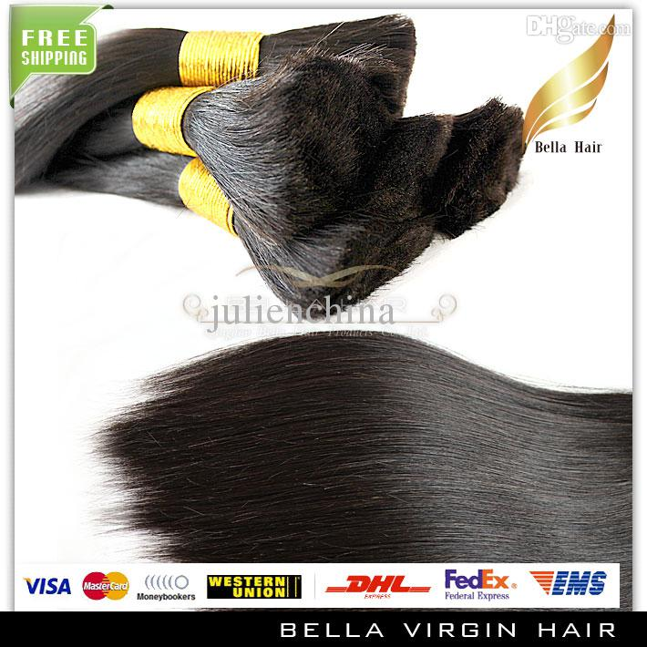 18 20 22 24 26 inch Natural Color Straight Hair Bulks Unprocessed Brazilian Human Bulk Hair 3 Bundles Hair Extensions