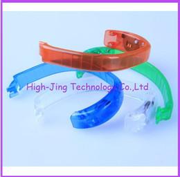 Wholesale Sound Activated Sensor - Voice control Sound Activated Sensor LED Flashing Flash Glowing Bracelet Bracelets bangle Wrist Strap for party