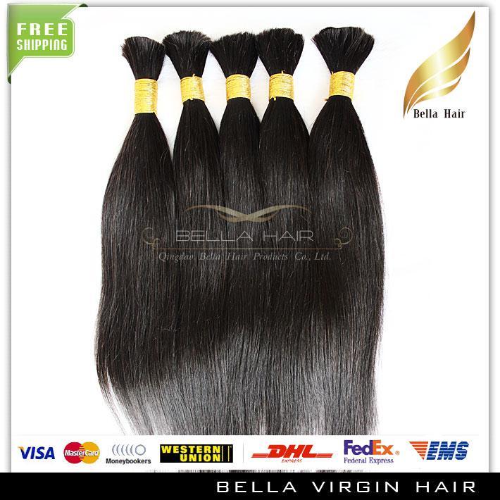 100% brasilianska hårbulder obearbetade mänskliga hår 28 tums naturliga färg silkeslen raka hårförlängningar Gratis frakt