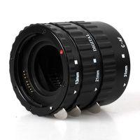 Wholesale Ef Macro - Black Metal Mount Auto Focus AF Macro Extension Tube Ring for Kenko Canon EF-S Lens T5i T4i T3i T2i 100D 60D 70D 550D 600D 6D