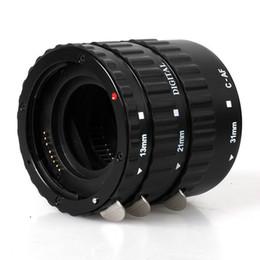 Wholesale Macro Extension - Black Metal Mount Auto Focus AF Macro Extension Tube Ring for Kenko Canon EF-S Lens T5i T4i T3i T2i 100D 60D 70D 550D 600D 6D