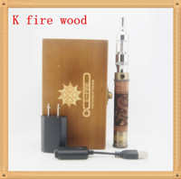Wholesale Ego Tank Atomizer Cones - Wooden tube E-cigarette mod E FIRE kit with x vv spinner battery ego cone x tank glass tube atomizer ego wood variable voltage e fire cigs