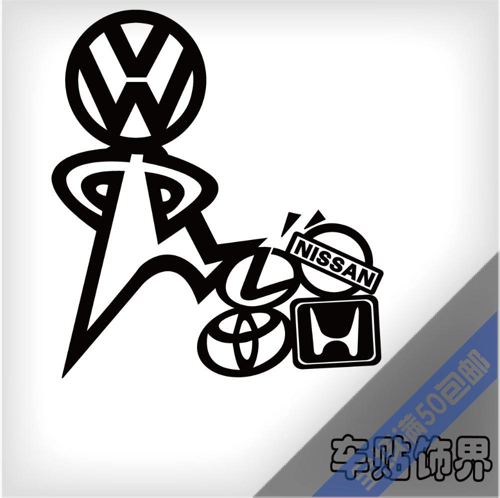 Funny vinyl wrap reflective tape car modification stickers and decals for vw golf 6 jetta tiguan gti r20 and so on canada 2019 from bdauto