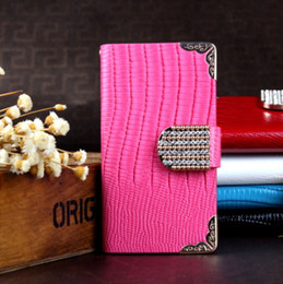 Wholesale S3 Leather Diamond - Samsung galaxy S3 S4 S5 S6 edge case Luxury Diamond bling Rhinestones Buckle Flip Wallet leather pouch credit card cover