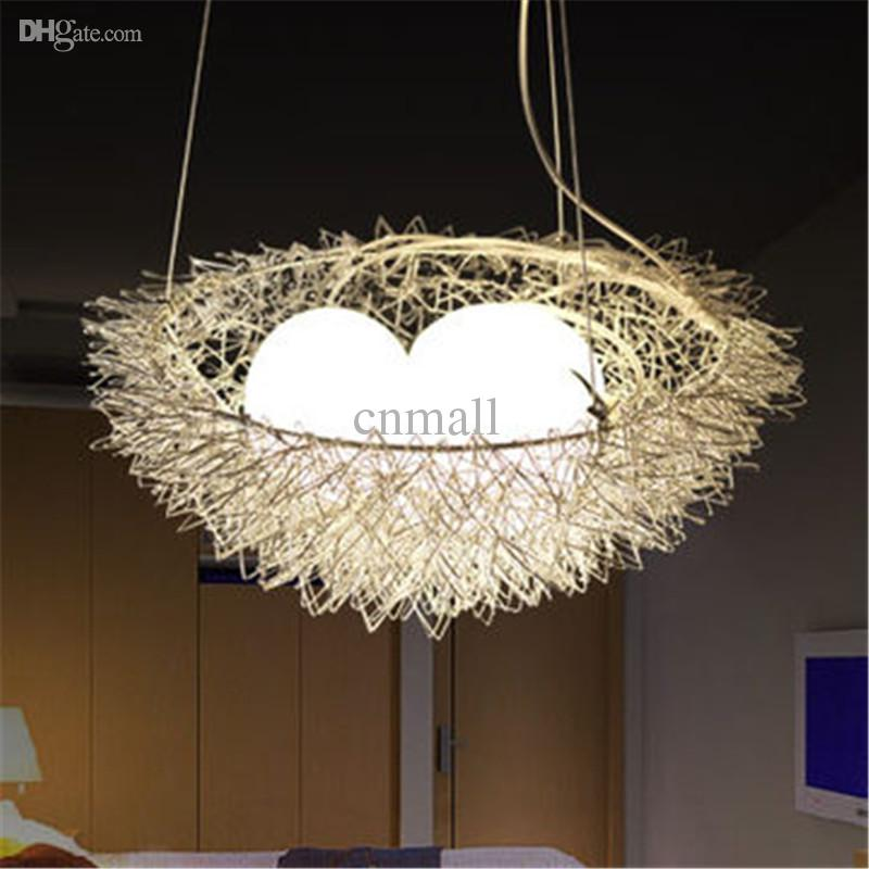 Unique Hanging Lamps discount unique bird's nest pendant light hanging lighting ceiling