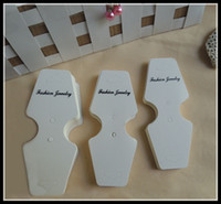 Wholesale Specialty Packaging - brand new fashion specialty white cardboard jewelry packaging hang tags,bracelet necklace earring display cards,price tag label display 013