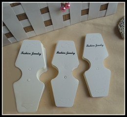 Wholesale Earrings Price Card - brand new fashion specialty white cardboard jewelry packaging hang tags,bracelet necklace earring display cards,price tag label display 013