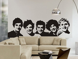 Wholesale Picture Directions - [funlife] One Direction wall Sticker 1D Poster girls Bedroom Home Decoration Pictures Removable Wall Art wallpaper vinyl decals