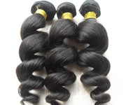 Wholesale wavy permed hair - brazilian human virgin remy loose wave hair weft natural black unprocessed baby soft wavy hair extensions g bundle