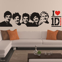 Wholesale Picture Directions - One Direction wall Sticker 1D Poster girls Bedroom Living home Decoration Pictures Removable Wall Art wallpaper